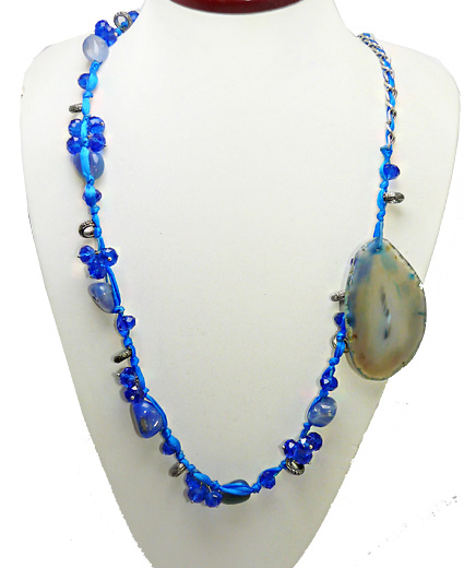 Margele din agate blue lace COD MAG9