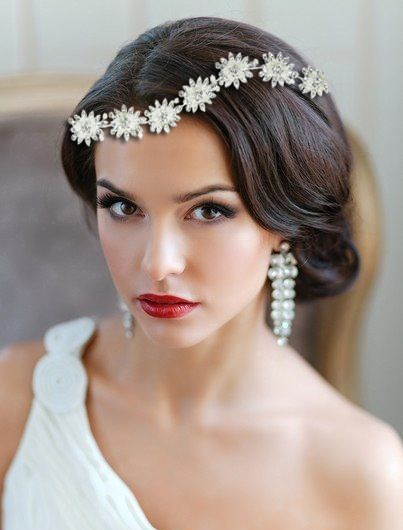 Tiara Imperiale Flowers cu Swarovski Elements M552