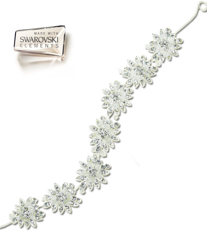 Tiara Imperiale Flowers cu Swarovski Elements M552-a