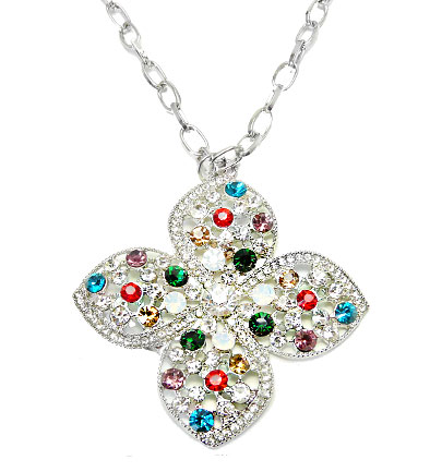 Colier floare cu cristale Swarovski Elements COD SW3P9