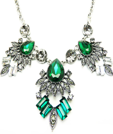 Colier statement Green Emerald COD GR21
