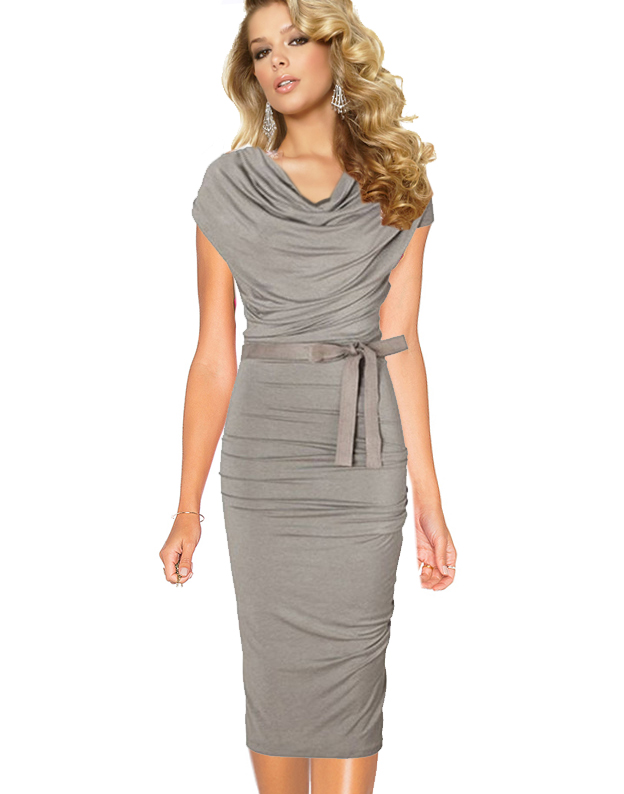 Rochie office gri OF03
