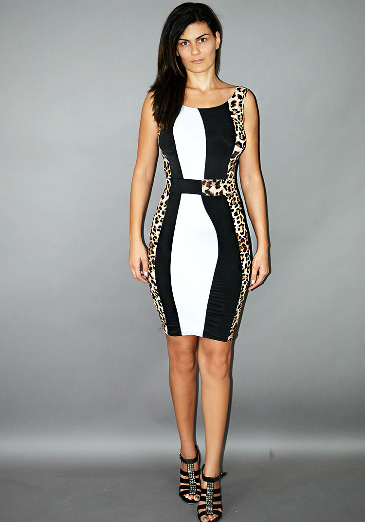 Rochie office midi animal print COD MID1
