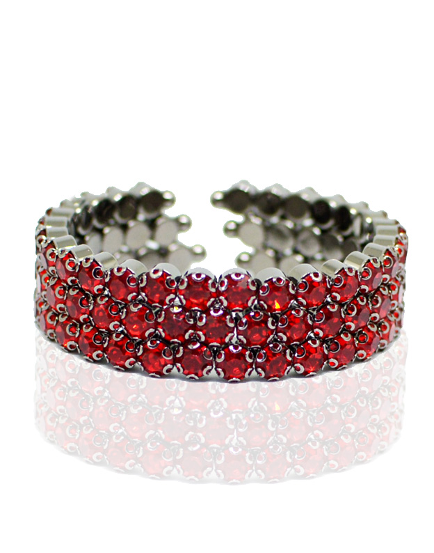 Bratara bangle Swarovski Red NA115