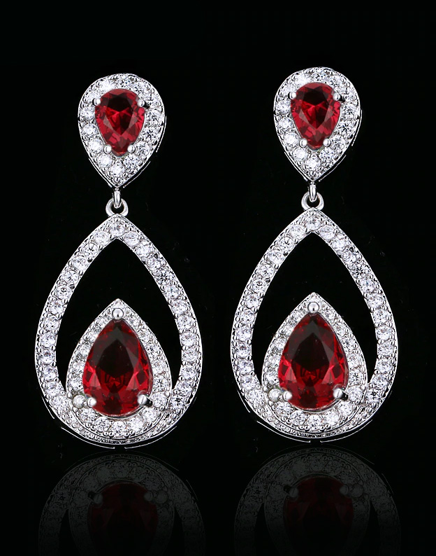 Cercei Red Zirconia Tear NA156