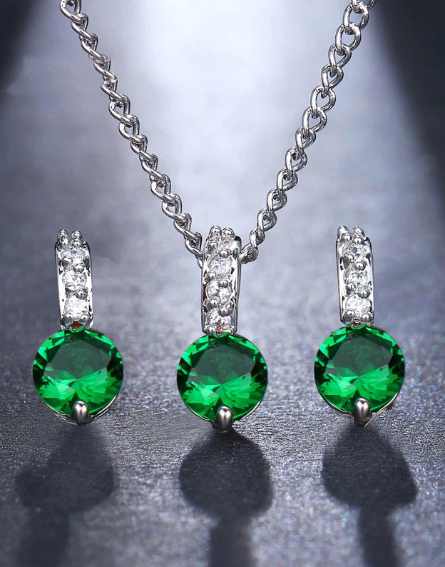 Set bijuterii Small Emerald cu Swarovski Elements NA200